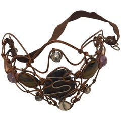 Copper and Stones Molded Wire Headband
