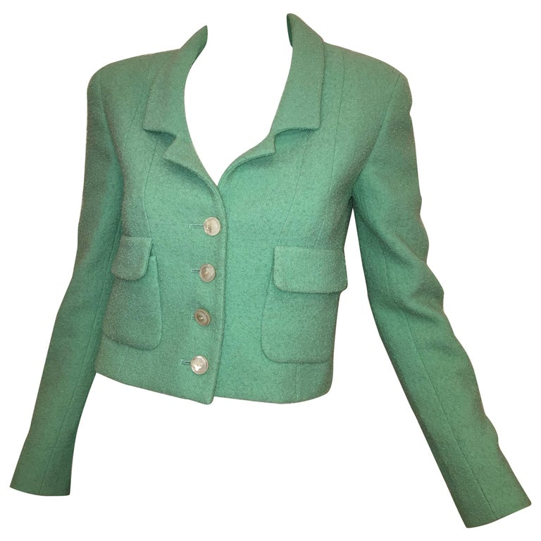 Chanel Mint Wool Jacket