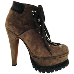 Alaia Lace Up Platform Ankle Boot