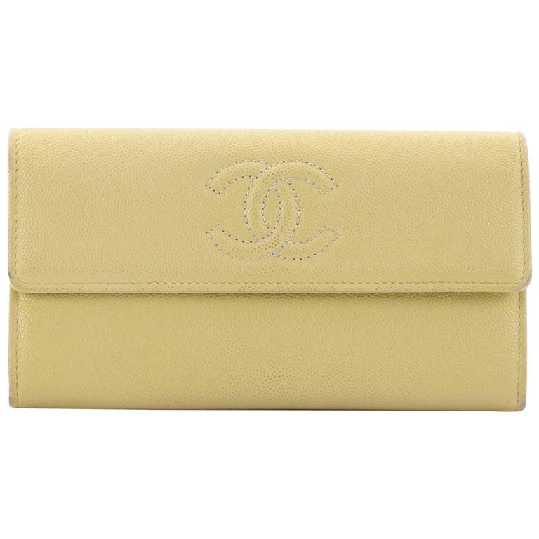 83a699066510 Chanel Timeless CC Flap Wallet Caviar Long at 1stdibs
