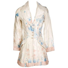 Ossie Clark Floral Print Silk Jacket, circa 1970s