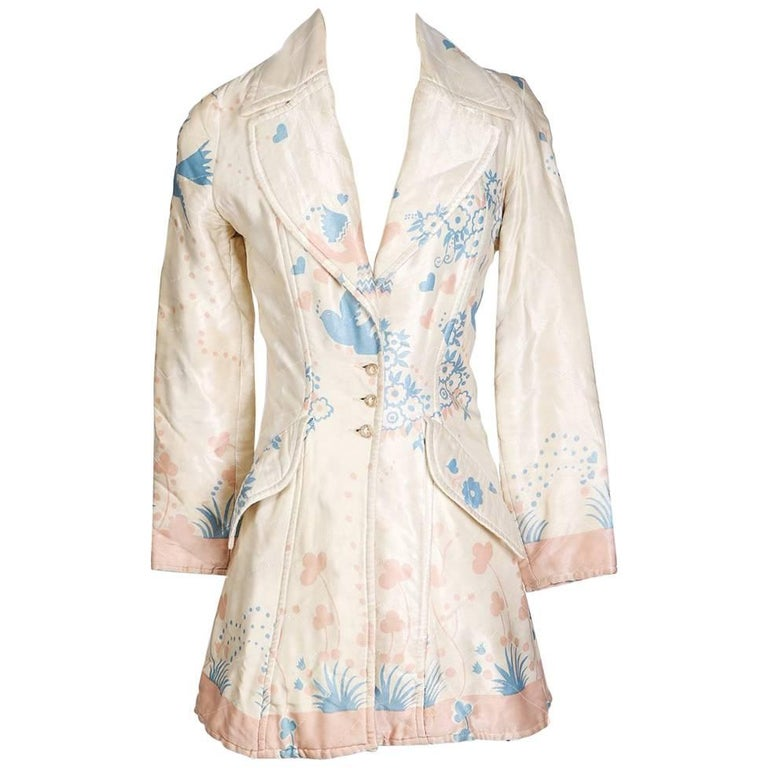 Ossie Clark Floral Print Silk Jacket, circa 1970s For Sale