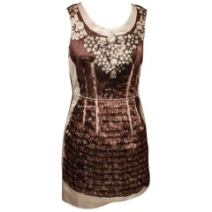 D&G Dolce & Gabbana Mini Dress With Diamond Necklace Print