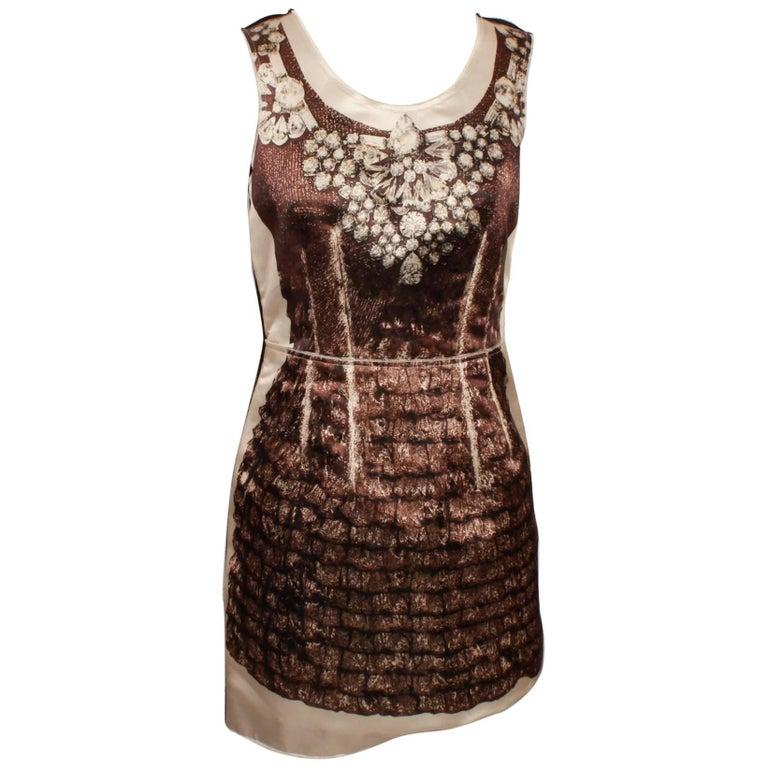 D&G Dolce & Gabbana Mini Dress With Diamond Necklace Print