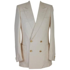 Nwt Burberry vintage jacket double-breasted burlington 100% silk men's size 46 i