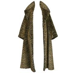 Iconic Alaia Leopard Faux Fur Coat 1991