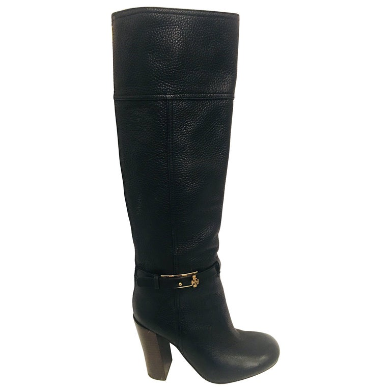 Tory Burch Pebbled Leather Boots