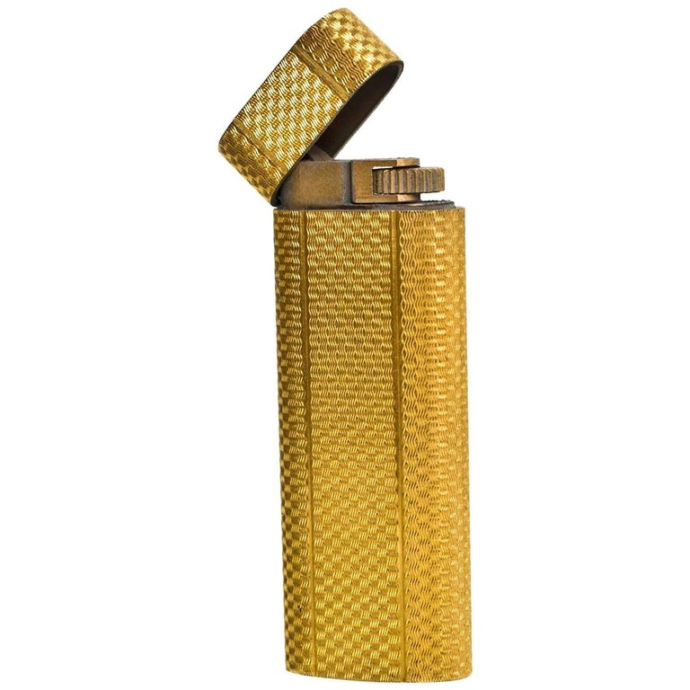 Cartier Vintage Yellow Gold Plated Lighter