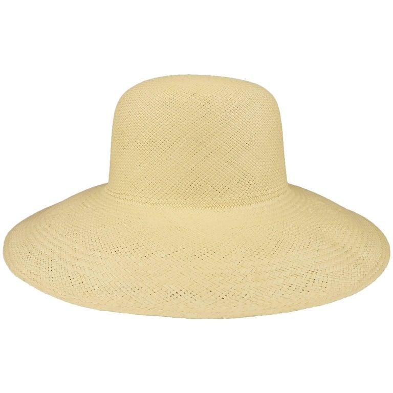 Vintage Beige Straw Wide Brim Sun Hat