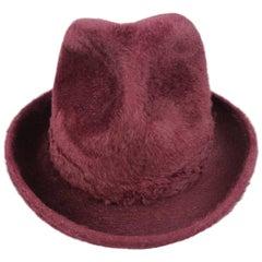 Vintage BILTMORE Size 7 Burgundy Beaver Fur Fedora Hat