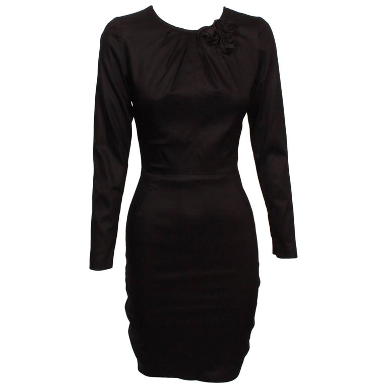 Valentino Fitted Shell Dress With Rosette Detail