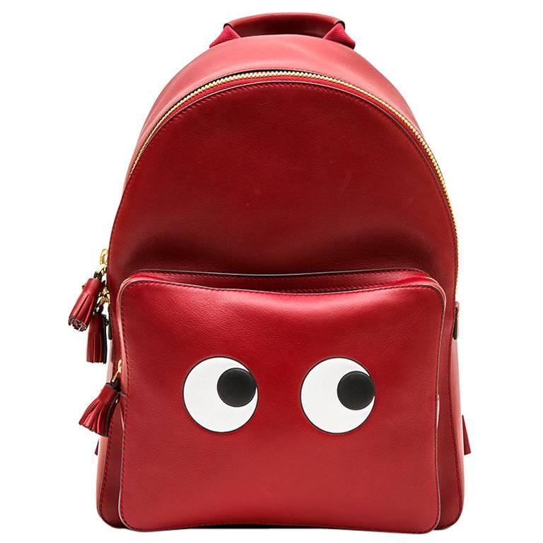 ANYA HINDMARCH Backpack in Burgundy Smooth Leather