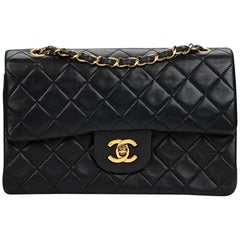 Chanel Black Quilted Small Classic Double Flap