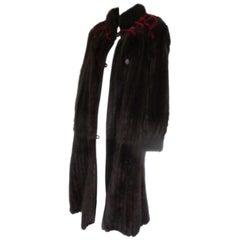 tarja niskanen reversible mink and leather fur coat