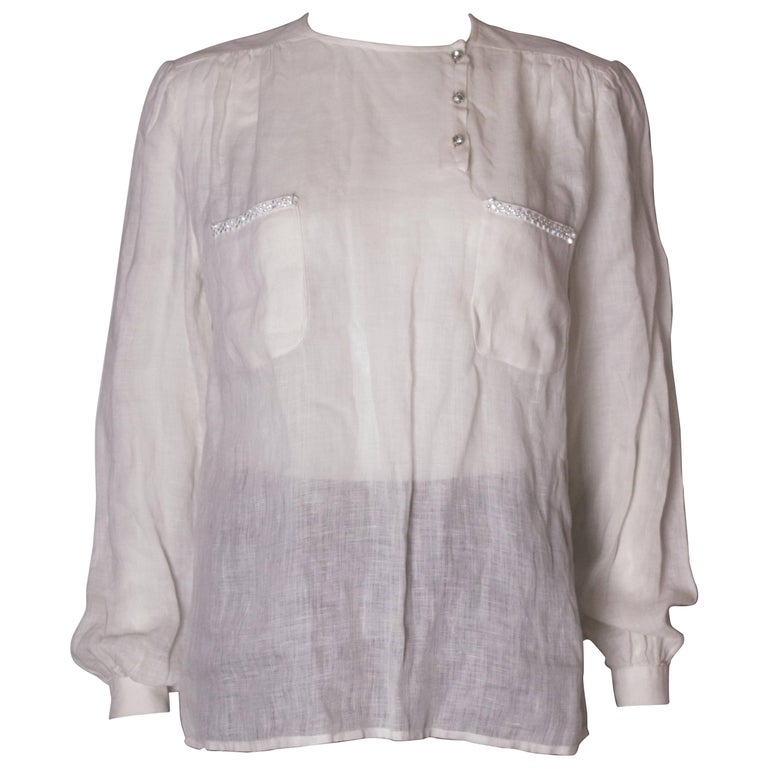 Vintage Valentino Linen Blouse