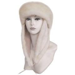tarja niskanen white mink and leather fur hat