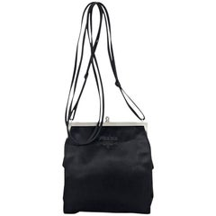 Black Prada Satin Evening Bag
