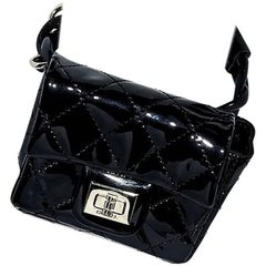 Black Chanel Quilted Ankle Bag