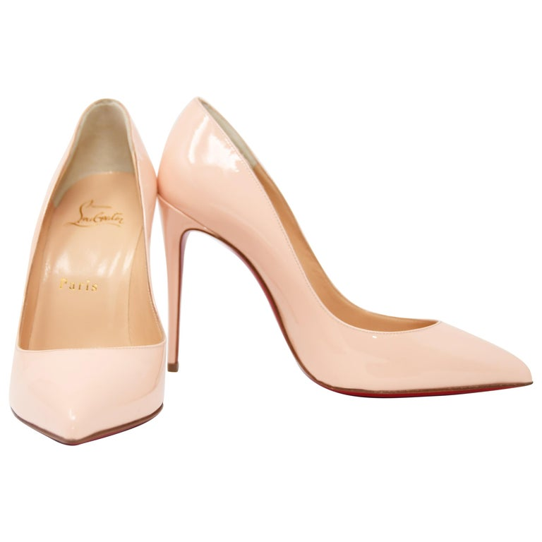 7b6d9e9cc8d Christian Louboutin Stiletto in Light Peach Patent Leather