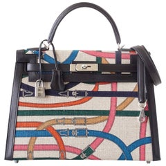 Hermes 32 Kelly Bag Sellier Limited Edition Cavalcadour Rare