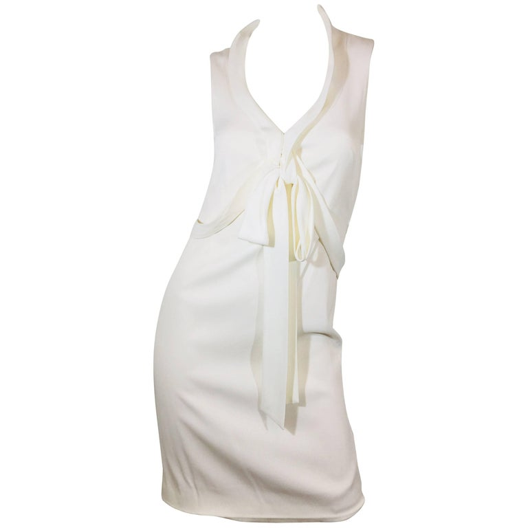 Zac Posen Silk Dress with Tie