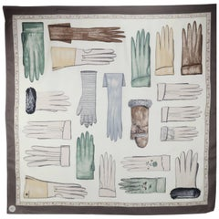 Echo Museum Collection Silk Scarf With Trompe L'Oeil Gloves