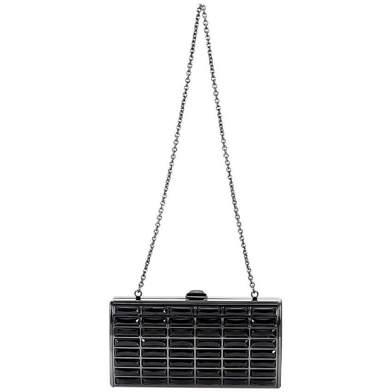 Black Judith Leiber Crystal Clutch