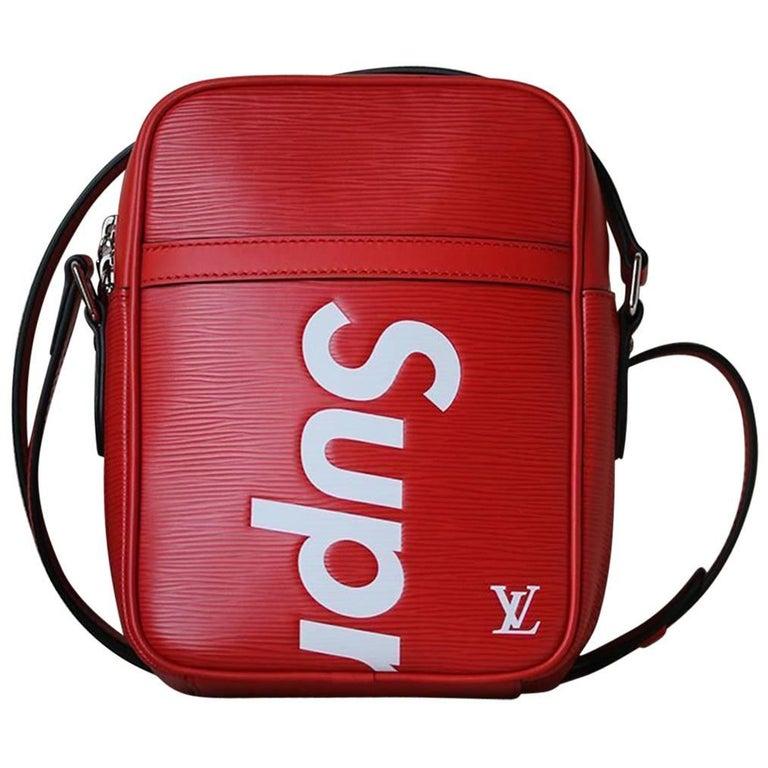 29cee1b62f39 Louis Vuitton X Supreme Danube Epi PM Red Bag at 1stdibs