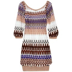 Stunning Missoni Chevron Crochet Knit Dress