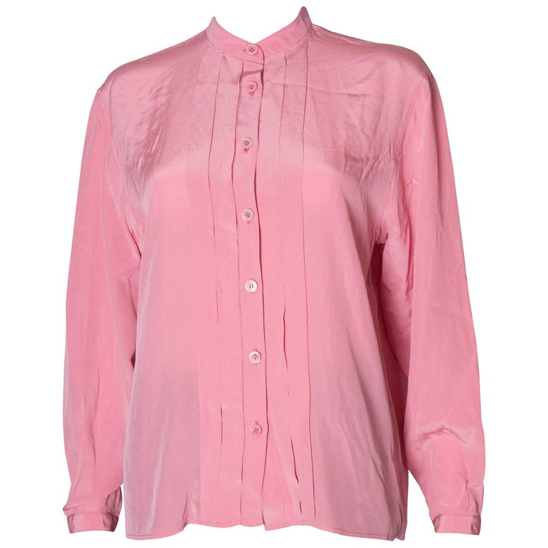 17328c2cfb0f5 Vintage Yves Saint Laurent Rive Gauche Silk Blouse For Sale at 1stdibs
