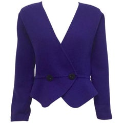 Genuine Geoffrey Beene Royal Blue Jacket with Dolman Sleeves