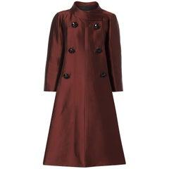 Dior Haute couture evening silkbordeauxcoat, 1950