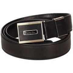 Black Christian Dior Leather Monsieur Belt
