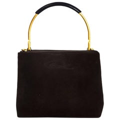 Christian Lacroix Brown Suede Handle Bag