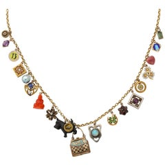 Pocca Book 19 Piece Gold Charm Necklace by Katherine Wallach