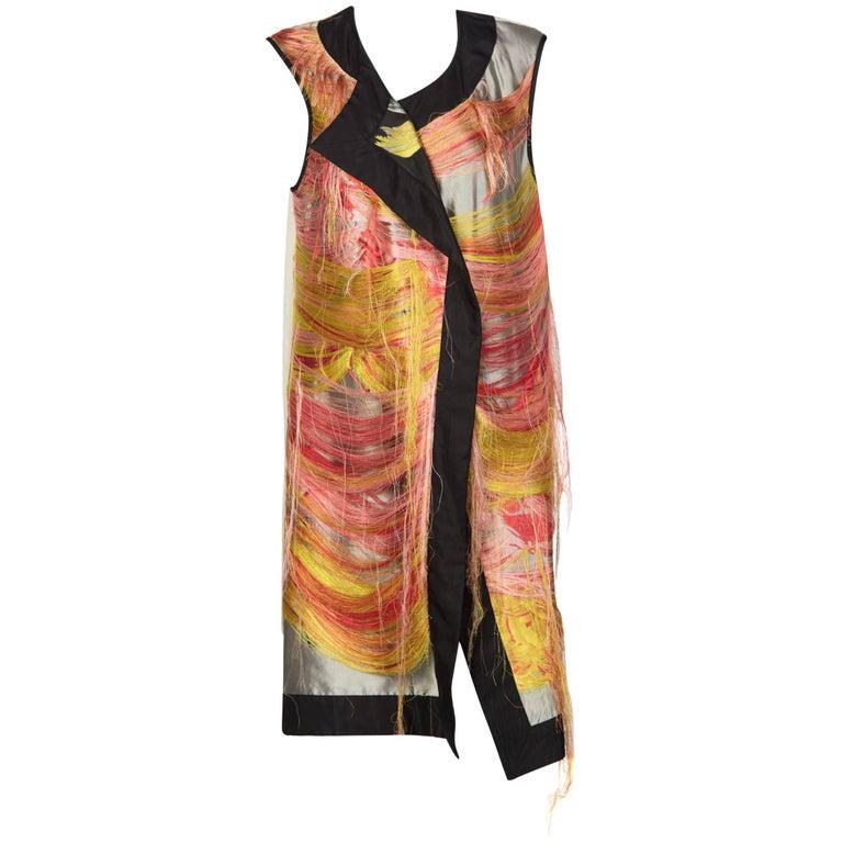 2014 Dries Van Noten Spring Runway Look 30 Silk Thread Floral Brocade Vest