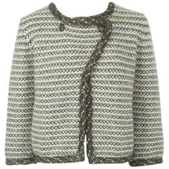 Chanel Earthtone Cashmere Knit Sweater Jacket - 42 - 07A