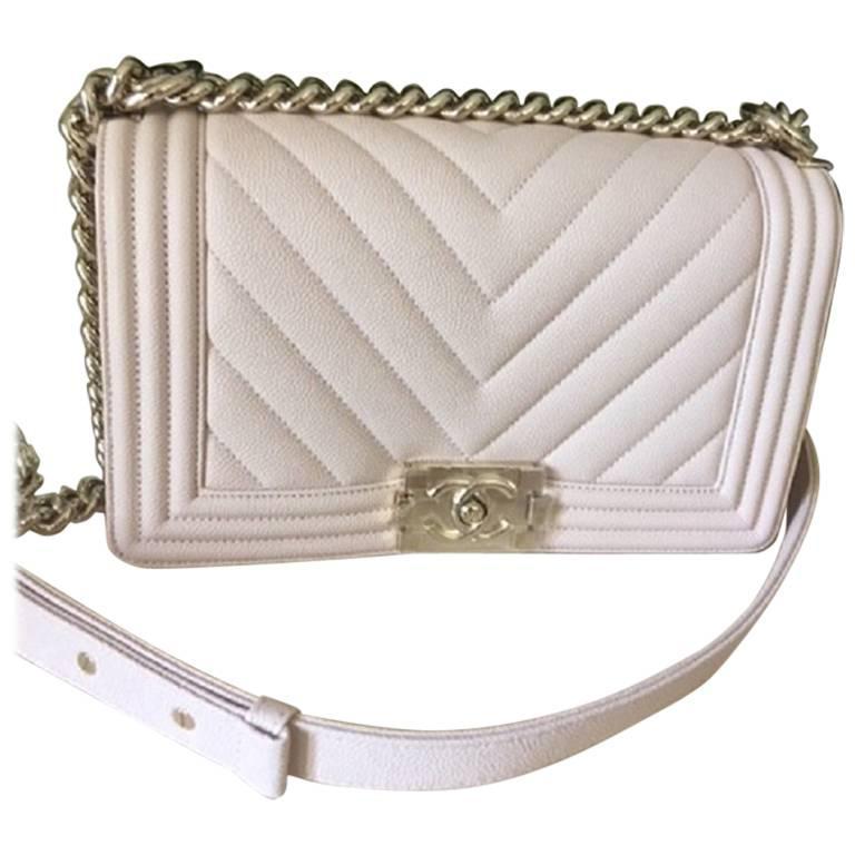 Chanel Medium Chevron Caviar leather Boy Bag