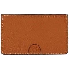 Hermes Brown Leather Card Holder
