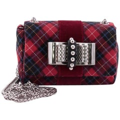 Christian Louboutin Sweet Charity Crossbody Bag Tartan Tweed Mini