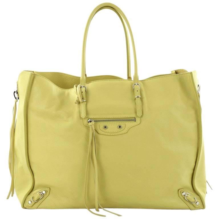 Balenciaga Papier A4 Zip Around Classic Studs Handbag Leather Large