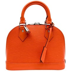 "Louis Vuitton Mini ""Alma"" BB Bag in Coral Epi Leather"