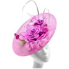 Siggi London Bespoke Purple Butterfly Headpiece
