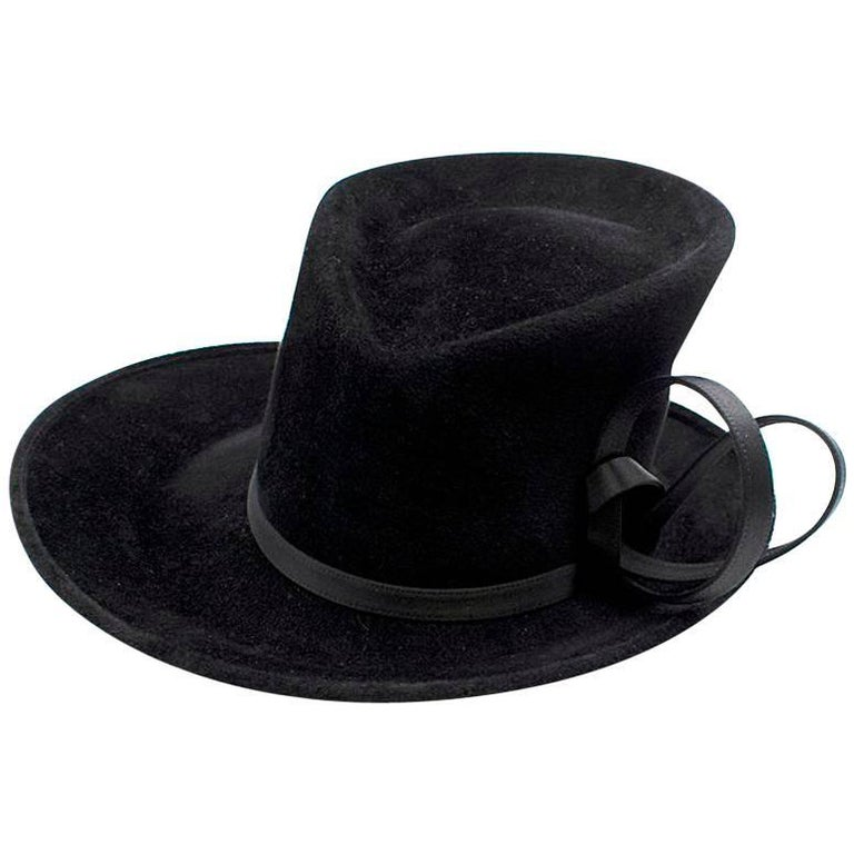 Philip Treacy Bespoke Black Top Hat