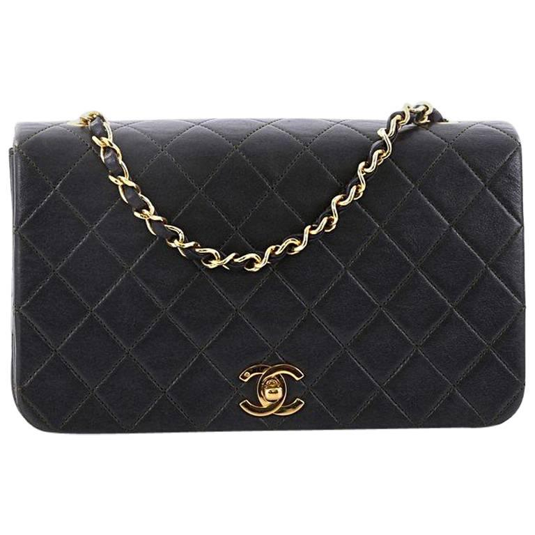 bfe07f62611aca Chanel Vintage Full Flap Bag Quilted Lambskin Mini at 1stdibs