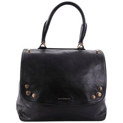 Givenchy Mirte Saddle Bag Bolt Stud Leather Large