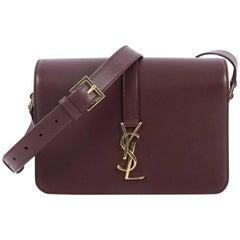 Saint Laurent Classic Monogram Universite Handbag Leather Medium