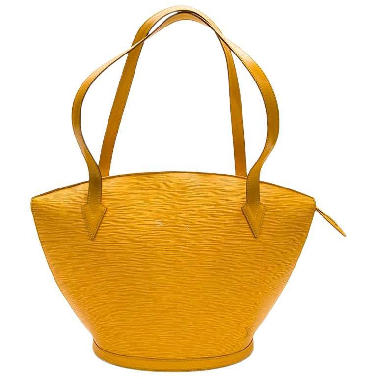 46358839fd94 LOUIS VUITTON  Saint Jacques  Bag in Yellow Epi Leather For Sale at ...