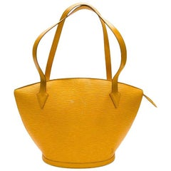 LOUIS VUITTON 'Saint Jacques' Bag in Yellow Epi Leather