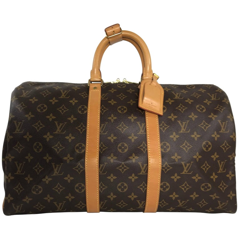 Louis Vuitton Monogram Keepall 45 Travel Bag